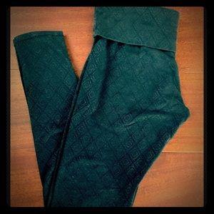 "Mossimo Black Patterned Legging Med Inseam 29"""